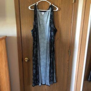 Women's Lularoe Joy size 3x long duster vest